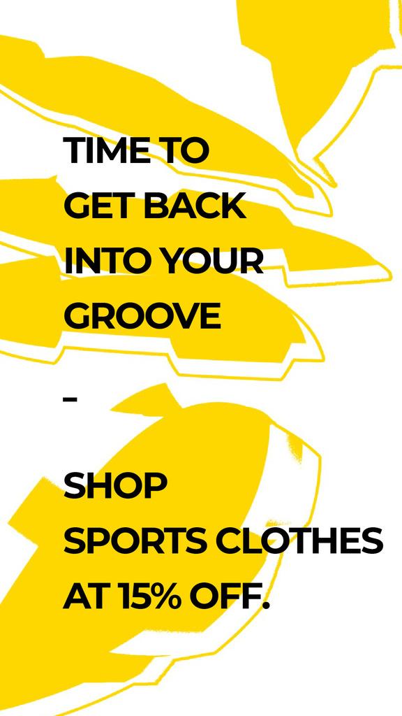Sports Clothes Shop Offer with yellow Textures — Crear un diseño