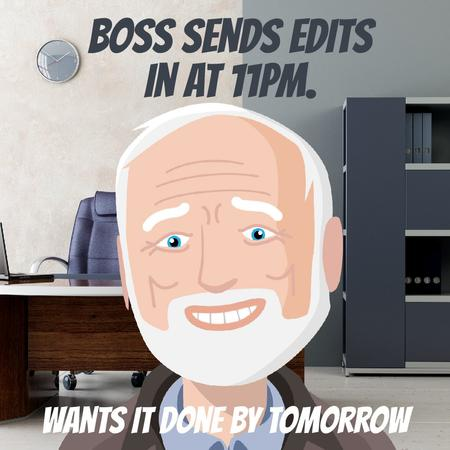 Template di design Upset man in Office Animated Post