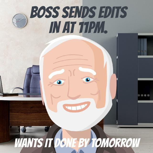 Upset man in Office Animated Post Design Template