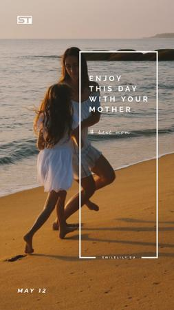 Template di design Mom and Daughter by the Sea on Mother's Day Instagram Video Story