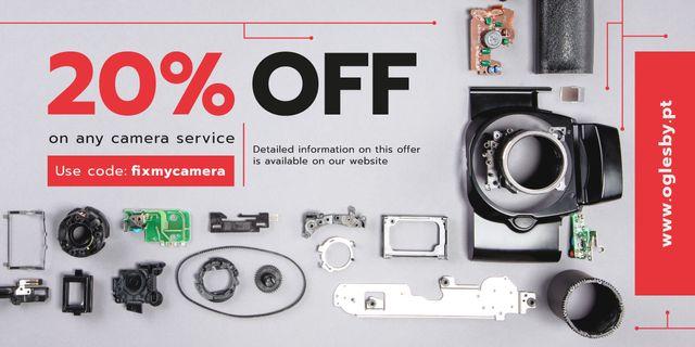 Szablon projektu Camera Service Ad Details and Parts Image