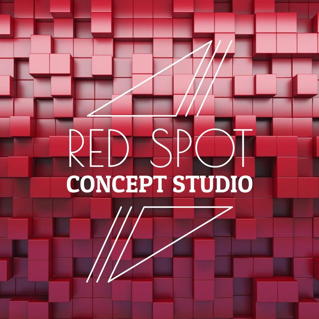 Bouncing red cubes — Create a Design