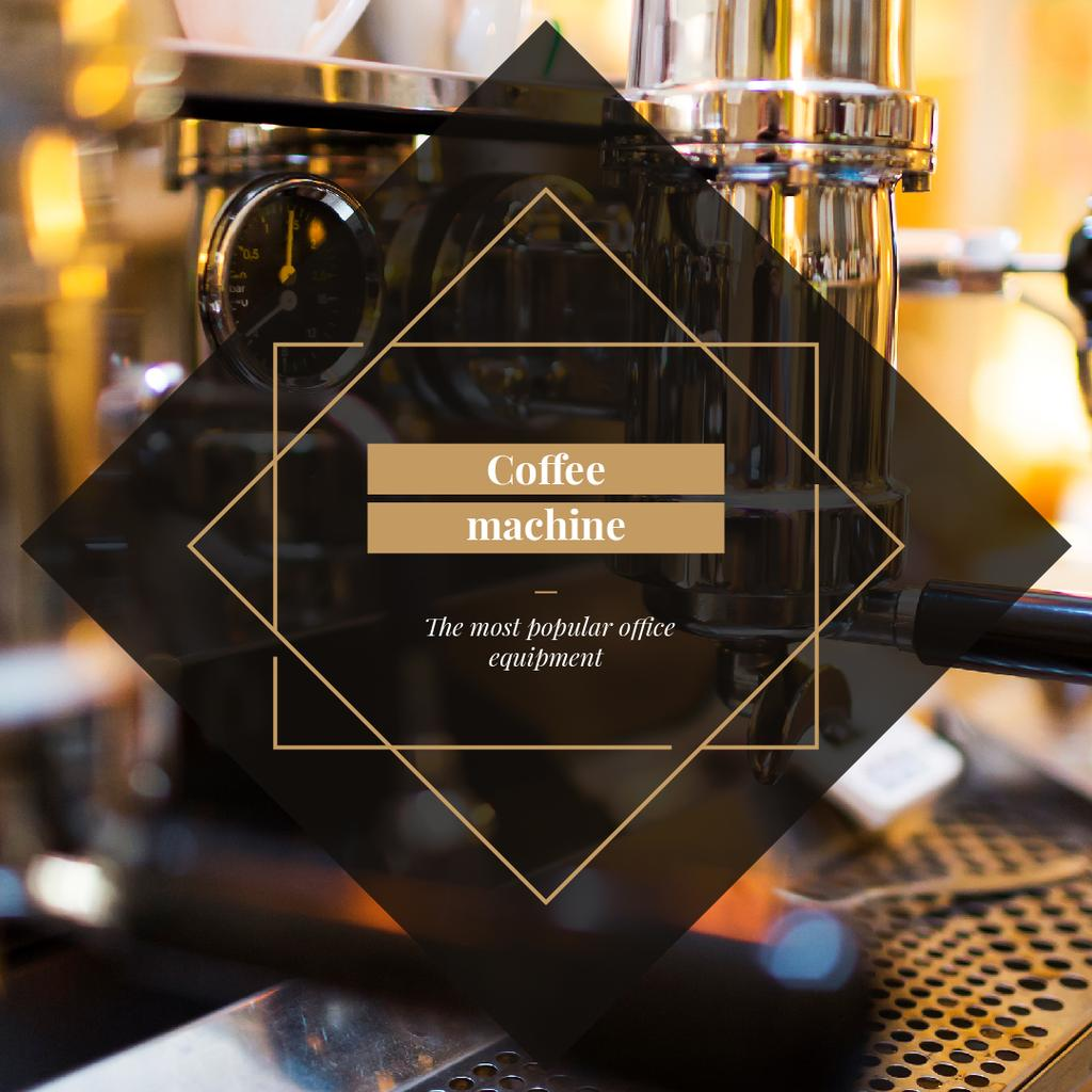 Coffee Machine Offer in cafe — Create a Design