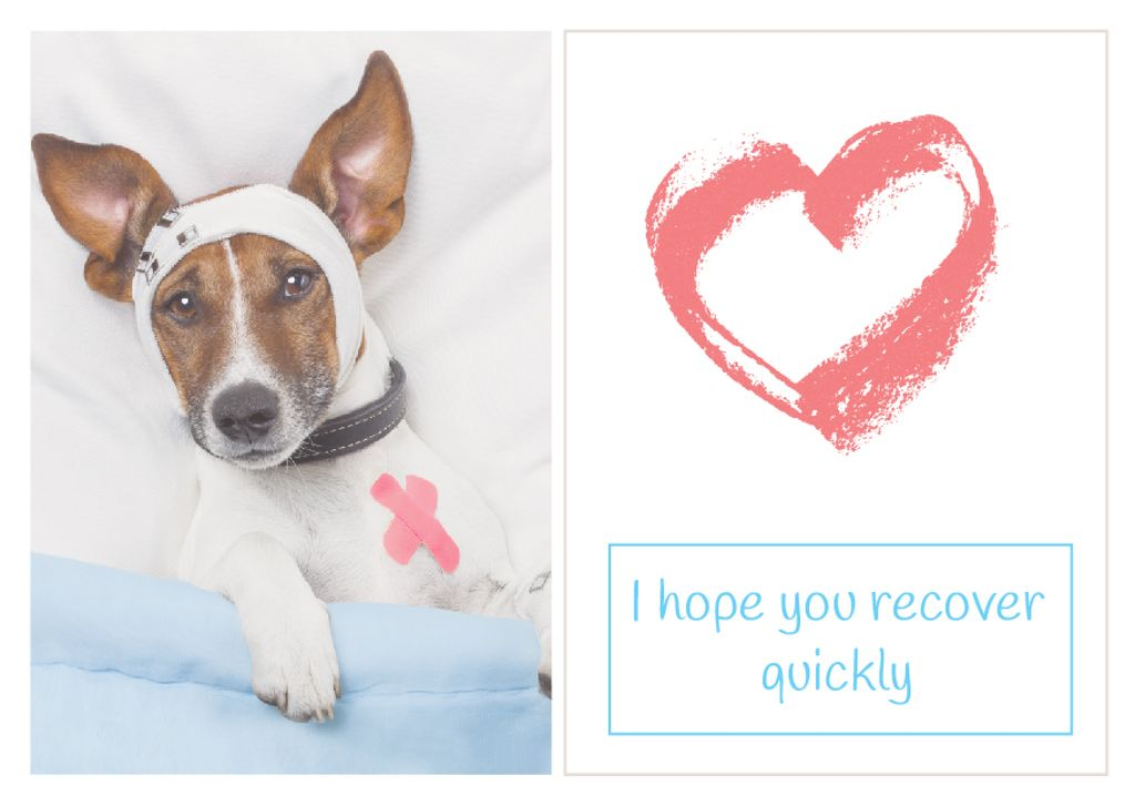 Citation about recover quickly of dog — Create a Design