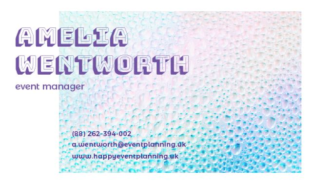 Template di design Event manager Contacts Information Business card