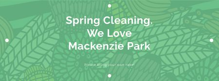 Template di design Spring Cleaning Event Invitation with Green Floral Texture Facebook cover