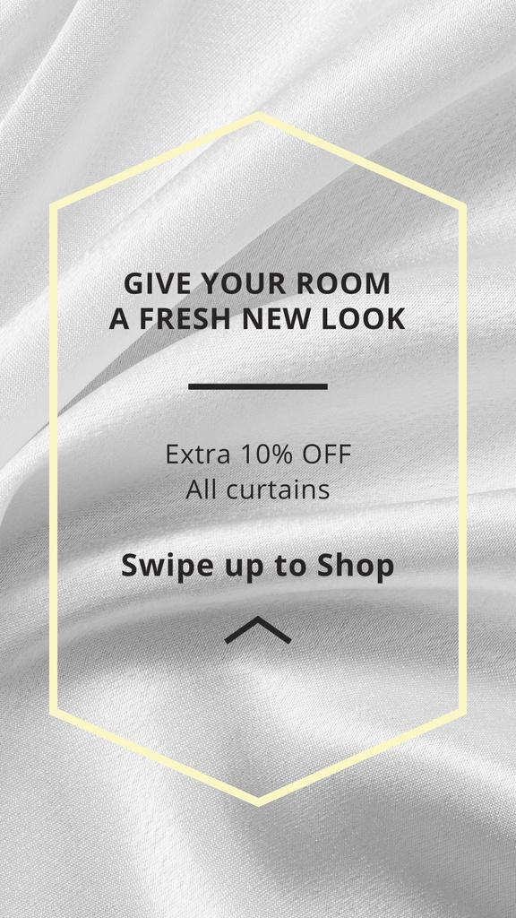 Home Textiles offer on White Silk — Создать дизайн
