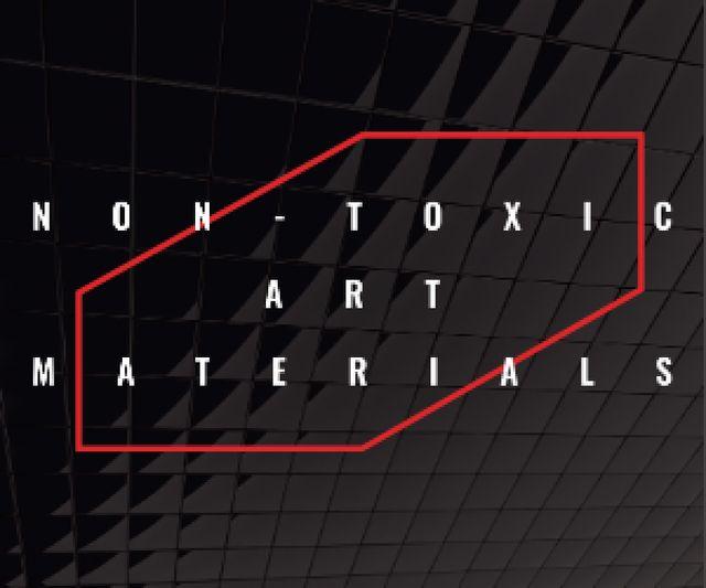 Non-toxic art materials Medium Rectangle Design Template