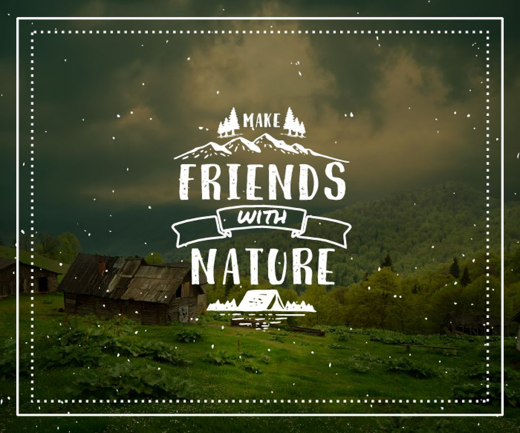 Make friends with nature poster — Створити дизайн