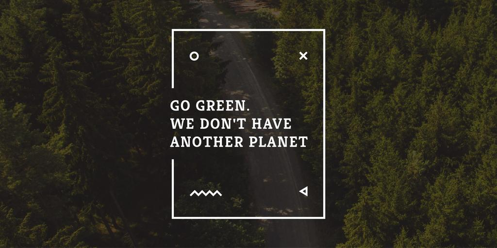 Citation about green planet —デザインを作成する