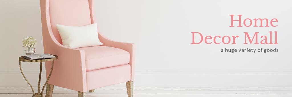 Furniture Shop Ad Pink Cozy Armchair — ein Design erstellen