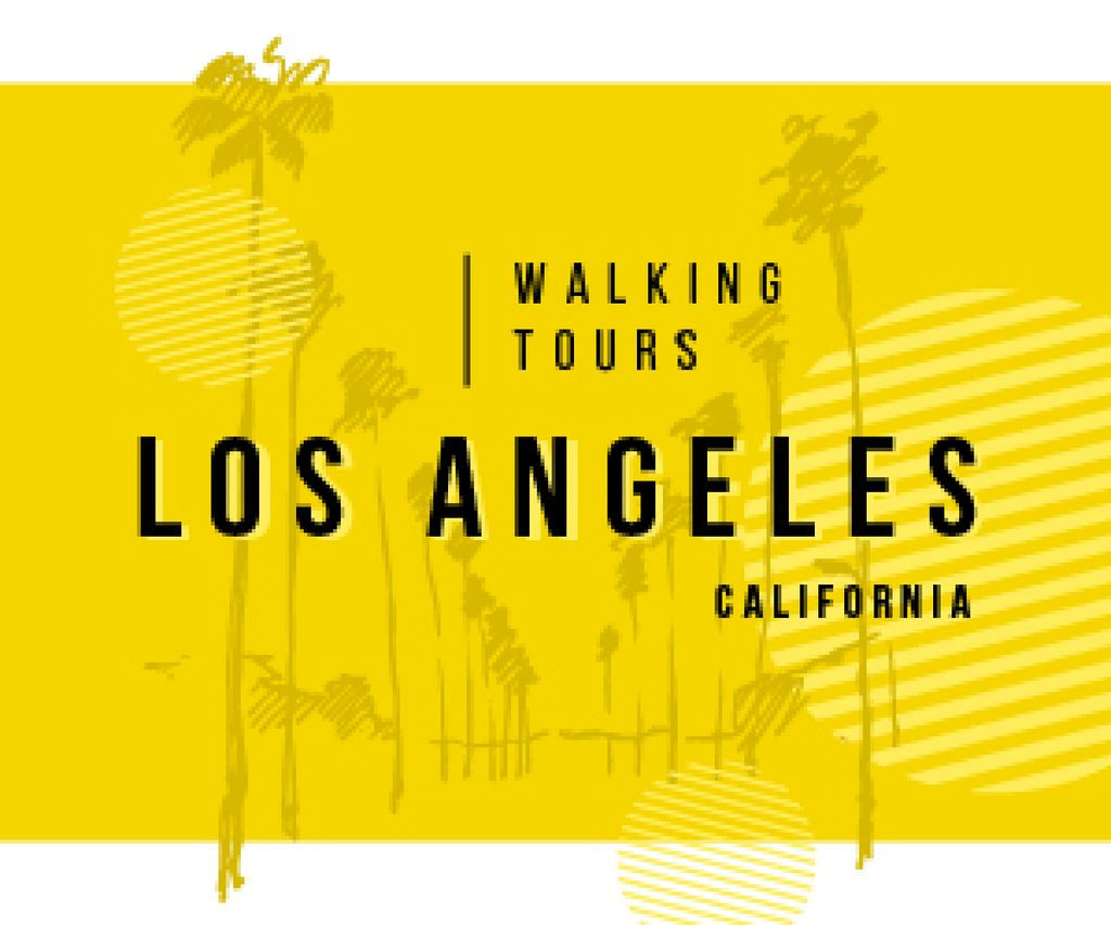 Los Angeles City Tour Promotion Palms in Yellow — Create a Design