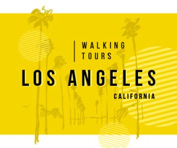 Los Angeles City Tour Promotion Palms in Yellow | Medium Rectangle Template