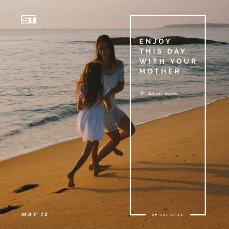 Template di design Mother and daughter by the sea on Mothers Day Animated Post