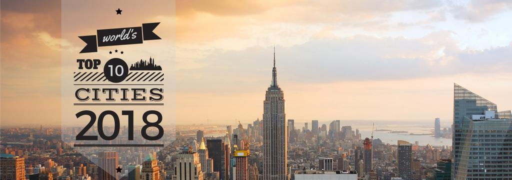 View of New York City | Tumblr Banner Template — Modelo de projeto