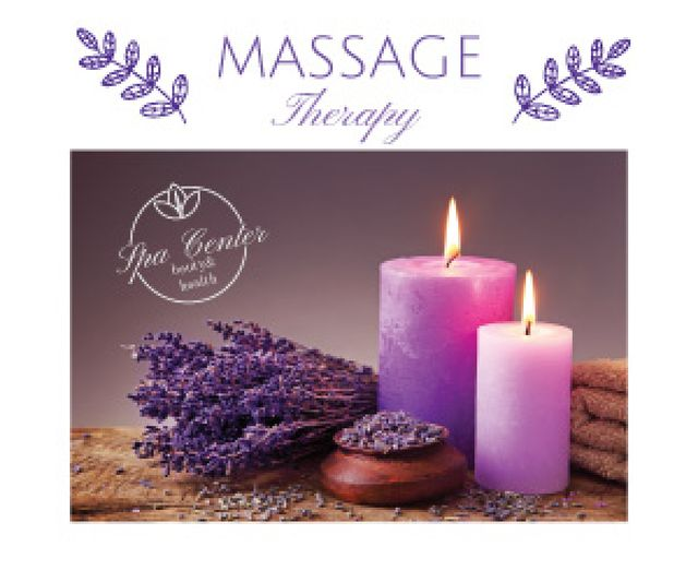 Massage therapy advertisement Medium Rectangle Design Template