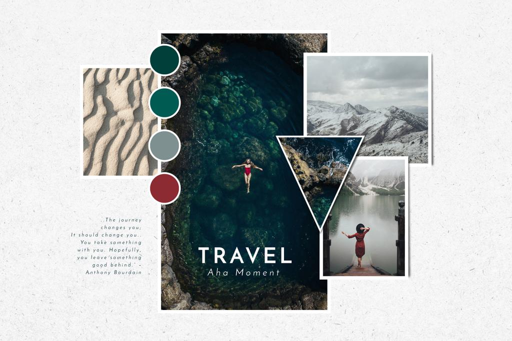 Travel Tour in mountains impressions — Crear un diseño
