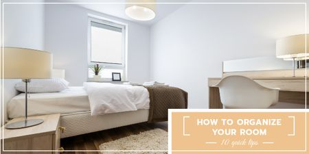 Template di design Organizing room tips banner Image