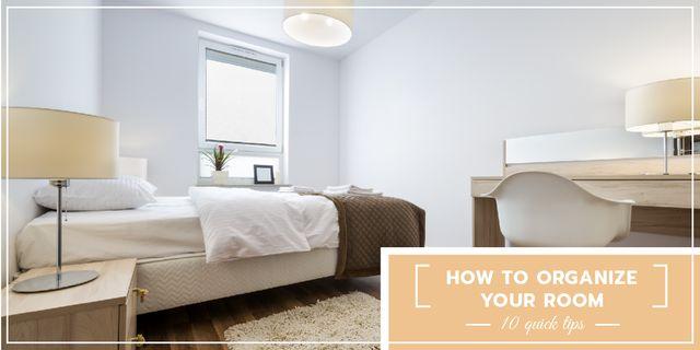 Plantilla de diseño de Organizing room tips banner Image