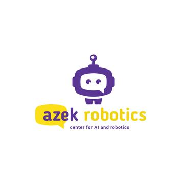 Robotics Center Ad Cute Android | Logo Template