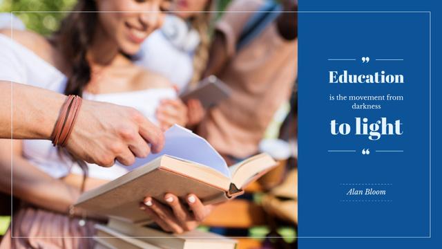 Plantilla de diseño de Citation about the importance of education Presentation Wide