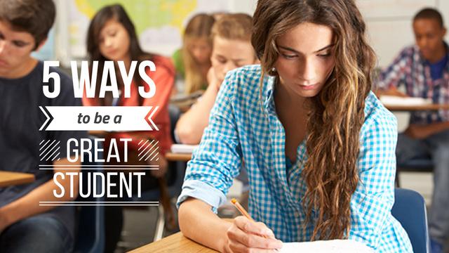 Education Program Students in Classroom Title Modelo de Design