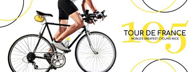 Ontwerpsjabloon van Facebook cover van Tour de France Annoucement