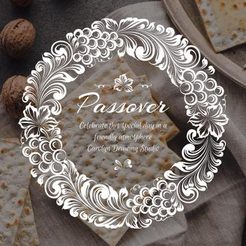 Happy Passover with Unleavened Bread and Nuts