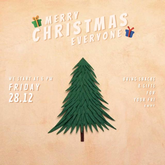 Plantilla de diseño de Christmas Invitation with Gifts under Tree Animated Post