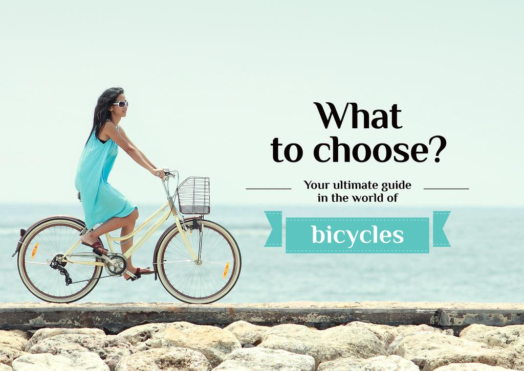 guide in the world of bicycles banner — Créer un visuel