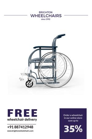 Plantilla de diseño de Wheelchairs store Offer Pinterest
