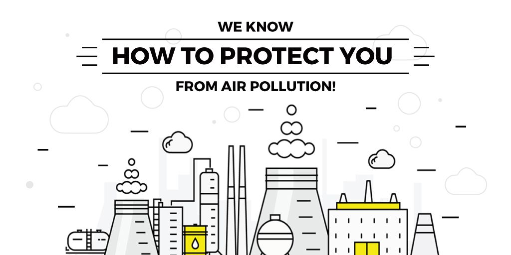 air pollution concept — Создать дизайн