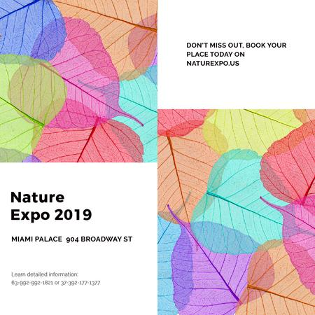 Plantilla de diseño de Nature Expo announcement with colorful leaves Instagram AD