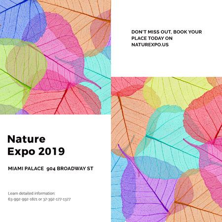 Szablon projektu Nature Expo announcement with colorful leaves Instagram AD