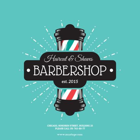 Plantilla de diseño de Barbershop Vintage Style Ad Instagram