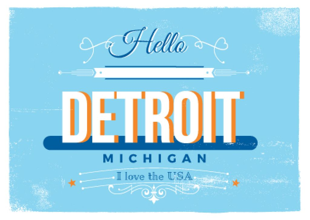 Detroit Michigan poster — Створити дизайн