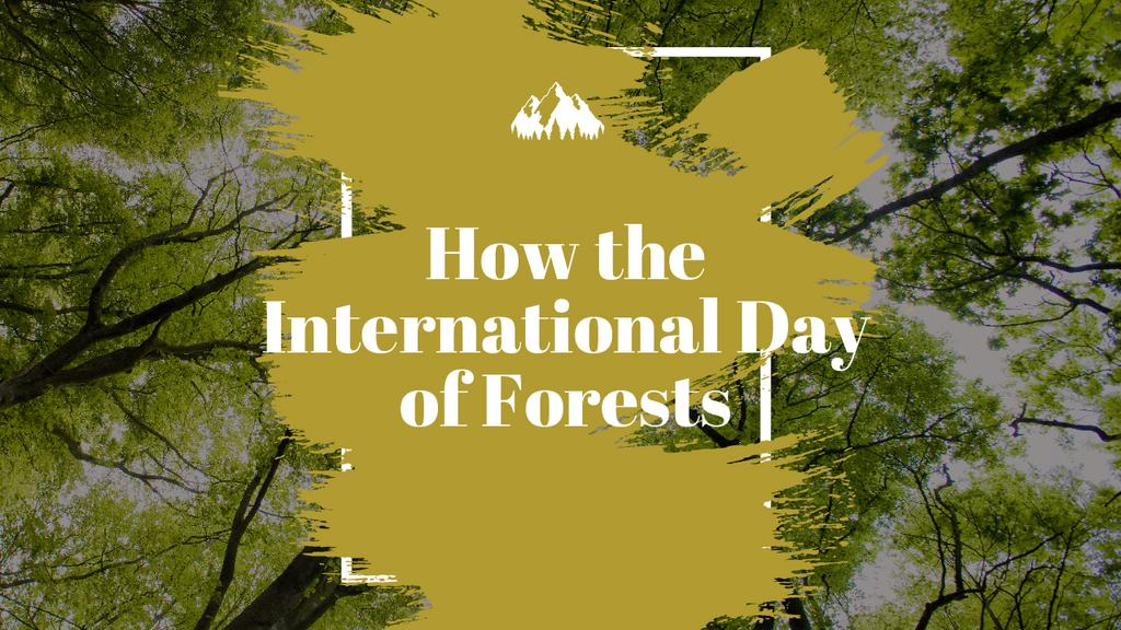 International Day of Forests Event Tall Trees | Youtube Thumbnail Template — Modelo de projeto