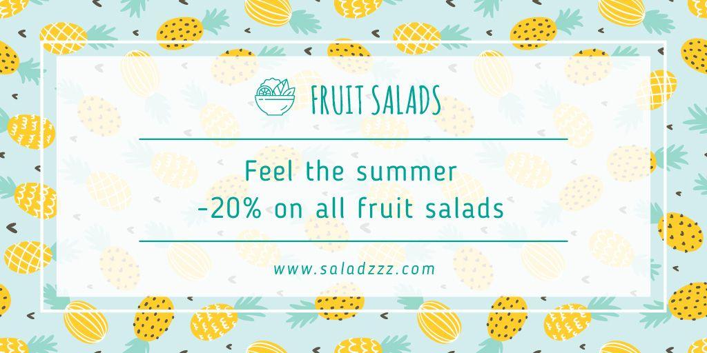 Fruit salads sale banner — Créer un visuel