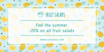 Fruit salads sale banner