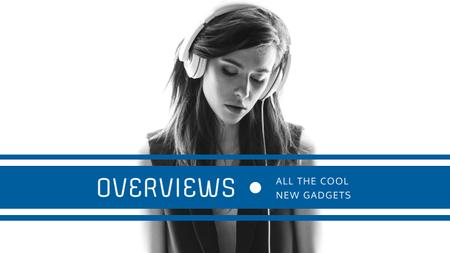 Template di design Headphones Ad with Woman Listening Music Youtube