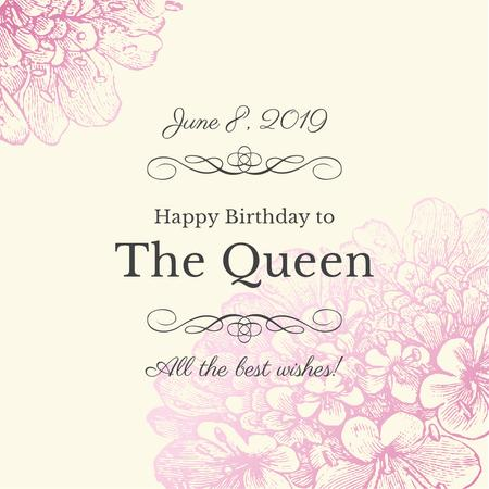 Queen's Birthday Greeting Instagram Modelo de Design