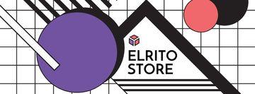 Store sale on geometric pattern