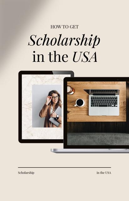 Smiling Girl for Scholarship program guide IGTV Coverデザインテンプレート