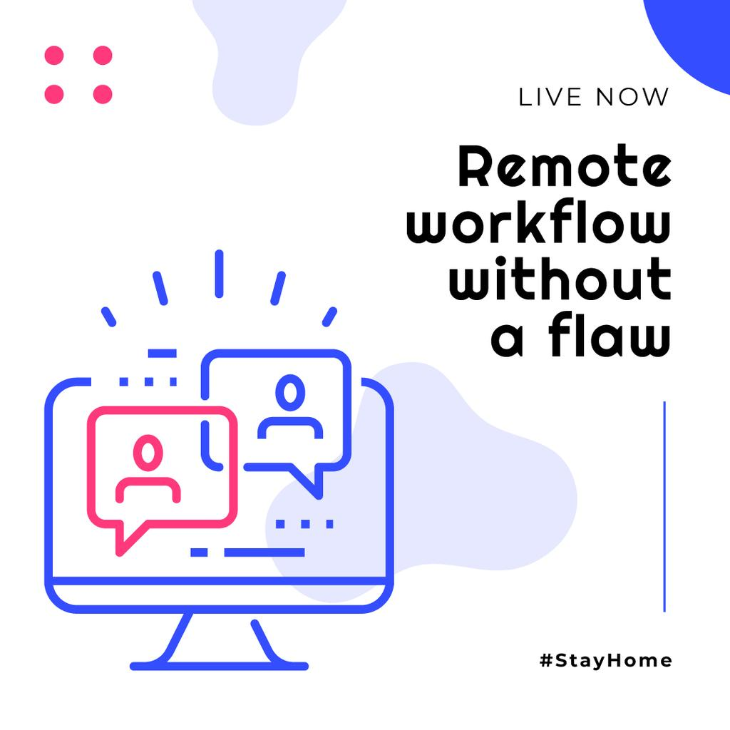 #StayHome Remote Workflow topic Stream Ad —デザインを作成する