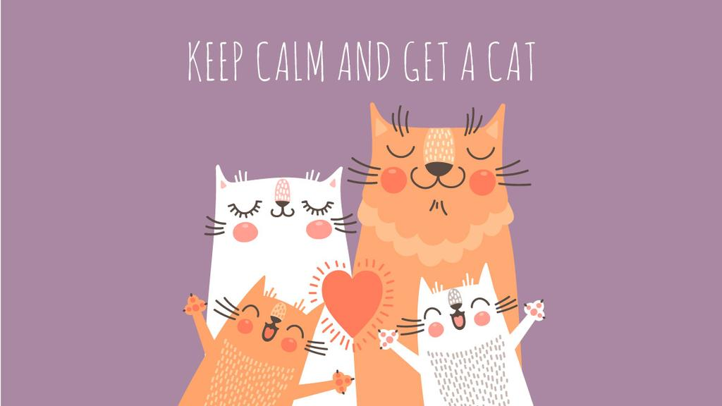 Adoption inspiration Funny Cat family — Créer un visuel