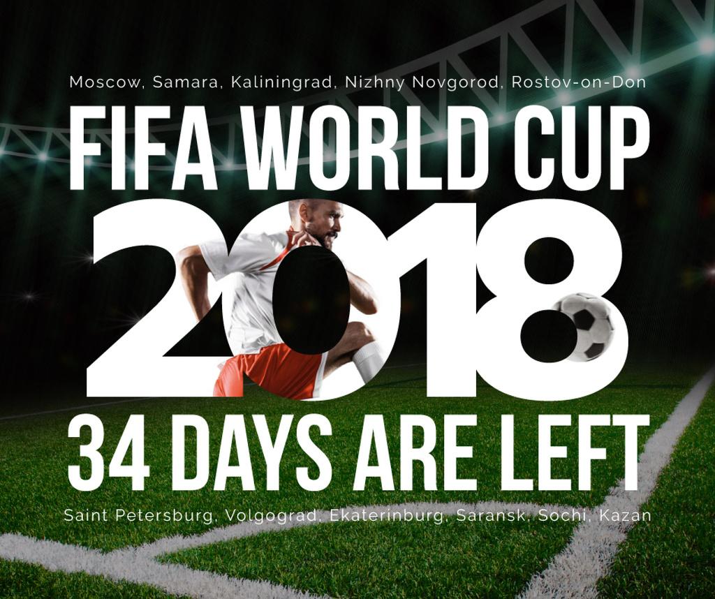 Football World Cup 2018 in Russia — Crea un design