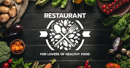 Restaurant for Lovers of Healthy Food Facebook AD Modelo de Design