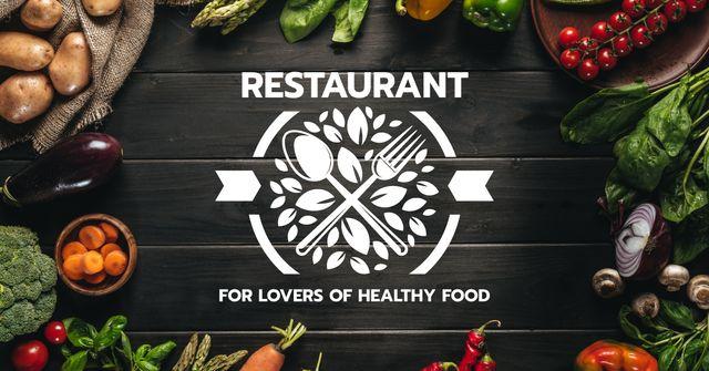 Plantilla de diseño de Restaurant for Lovers of Healthy Food Facebook AD