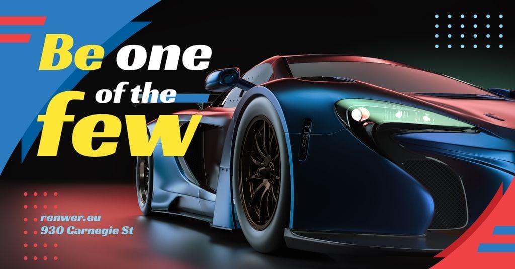 Dark Modern Sports Car — Crear un diseño