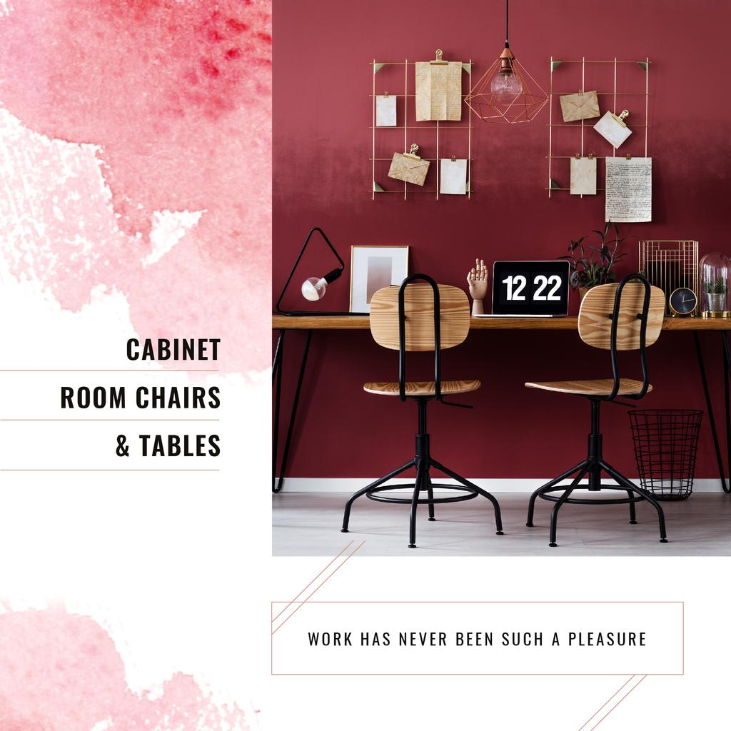 Furniture Store Ad Working Table with Laptop — Створити дизайн